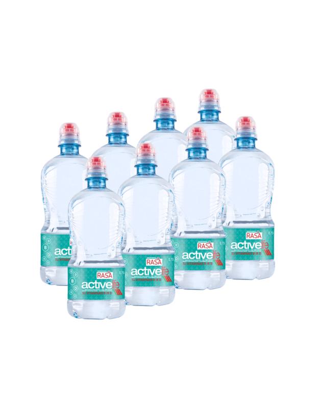 RASA ACTIVE LIFE stalo vanduo su vitaminais B ir D 0,75L X 8 VNT.