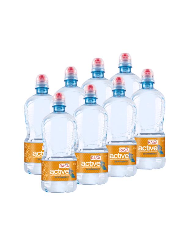 RASA ACTIVE LIFE stalo vanduo su vitaminu C 0,75L X 8 VNT.